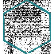 Doodle Teal Hexagon Medium 3