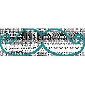 Doodle Teal Mustache 2