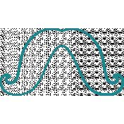 Doodle Teal Mustache 4