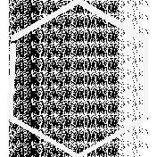 Doodle White Hexagon Medium 1