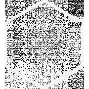 Doodle White Hexagon Medium 2