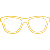 Doodle Yellow Glasses 1