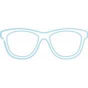 XY Doodle- Baby Blue Glasses 1