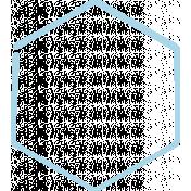 XY Doodle- Baby Blue Hexagon Medium 1