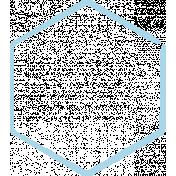 XY Doodle- Baby Blue Hexagon Medium 2