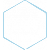 XY Doodle- Baby Blue Hexagon Medium 3