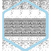 XY Doodle- Baby Blue Hexagon Small