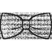 XY Doodle- Black Bow Tie