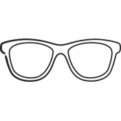 XY Doodle- Black Glasses 1