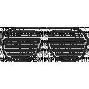 XY Doodle- Black Glasses 2