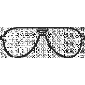 XY Doodle- Black Glasses 3
