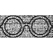 XY Doodle- Black Glasses 4