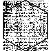 XY Doodle- Black Hexagon Large 1