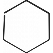 XY Doodle- Black Hexagon Medium 1