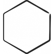 XY Doodle- Black Hexagon Medium 2