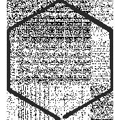 XY Doodle- Black Hexagon Medium 3