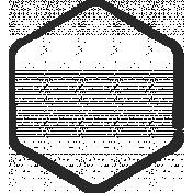 XY Doodle- Black Hexagon Small