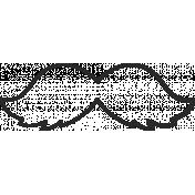 XY Doodle- Black Moustache 1