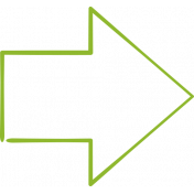 XY Doodle- Lime Arrow