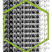 XY Doodle- Lime Hexagon Medium 1