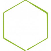 XY Doodle- Lime Hexagon Medium 3