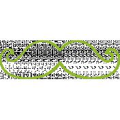 XY Doodle- Lime Moustache 2