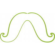 XY-Doodle- Lime Moustache 4