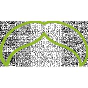 XY Doodle- Lime Moustache 5