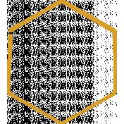 XY Doodle- Mustard Hexagon Medium 1