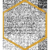 XY Doodle- Mustard Hexagon Medium 2