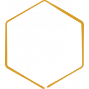 XY Doodle- Mustard Hexagon Medium 3