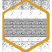 XY Doodle- Mustard Hexagon Small