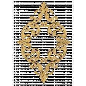 Romantic Tan Gold Embellishment