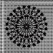 Floral Mandala Template