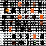 Alpha- Halloween symbols