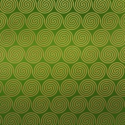 Paper- Christmas spirals in green
