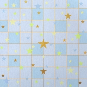 Paper – Squares and stars on blue