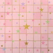 Paper – Squares and stars on pink