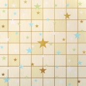 Paper – Squares and stars on beige