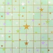 Paper – Squares and stars on green