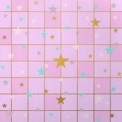 Paper – Squares and stars on purple