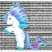 Unicorn standing up 3