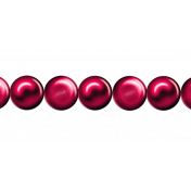 Ribbon – Princess pearls in red