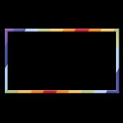 Frame- Rainbow rectangle 1