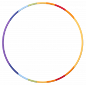 Frame- Rainbow circle