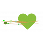 Heart – Happy Valentine in green