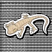 Lizard 1- Petrii Gecko (Sticker + shadow)