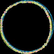 Glitter Circle Frame