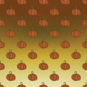 Glitter Pumpkin Paper
