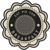 It's A Pie Time: Word Art Badge 03